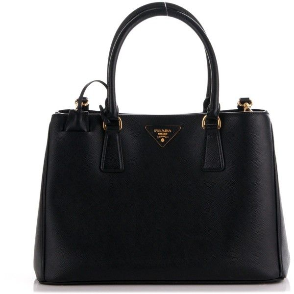 PRADA Saffiano Lux Medium Tote Nero Black ❤ liked on Polyvore featuring bags, handbags, tote bags, medium tote, medium tote bag, prada, handbag tote and tote purses