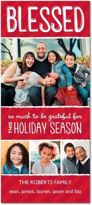 Bright and Blessed - Cheap Christmas Cards in Winterberry | Design Collective