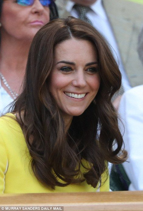 The Duchess of Cambridge, 34, was a ray of sunshine in a yellow dress by Roskanda which she first wore in Australia in 2014 as she arrived at Wimbledon for the women's semi finals.