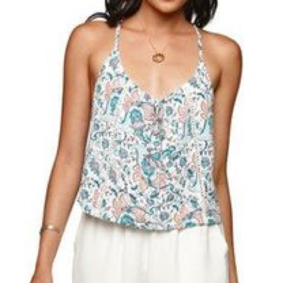 Kendall + Kylie crop tank So adorbs I love Kendall and Kylie's style. This piece is from their line it's never been worn- paisley style pattern with crochet detailing Kendall & Kylie Tops Tank Tops