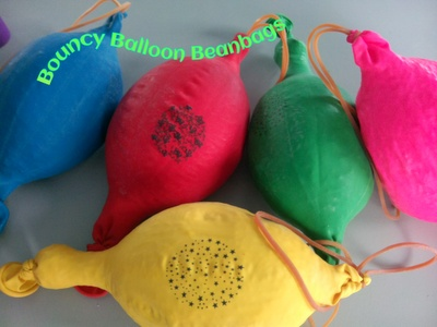 Bouncy balloon beanbags- cheap, easy and fun.  Even the grown ups won't put them down!