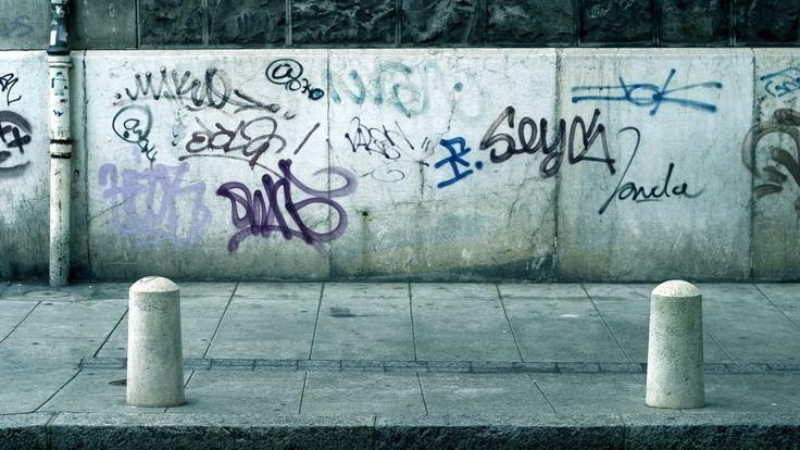 Download Wallpaper 3840x2160 Wall, Tiles, Footpath, Sidewalk, Graffiti 4K  Ultra HD HD Background
