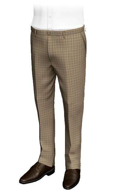 Dalso Tweed slim fit pants, 100% wool. Custom pants with woven squares, composed of green, khaki and beige stripes that intersect. Its composition is reminiscent of the texture of granite. Without doubt, these pants are a classic for Tweed lovers, synonymous with elegance and distinction.