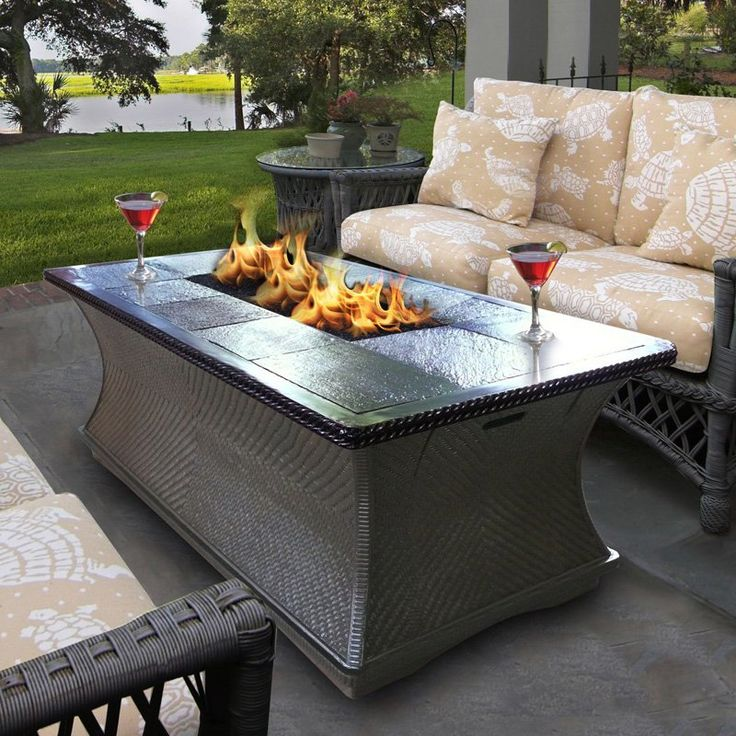 California Outdoor Concepts Monterey Rectangle Fire Pit Coffee Table    $1804.99