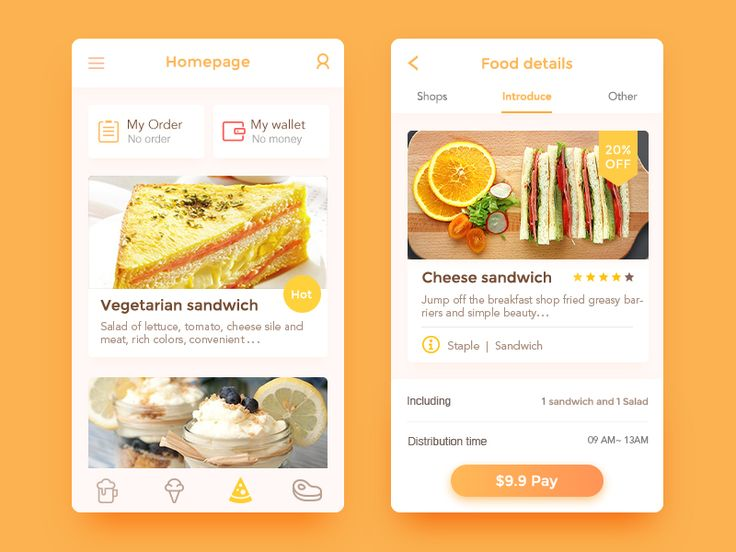 66 best ui recipe images on pinterest user interface app design healthy takeaway app forumfinder Images