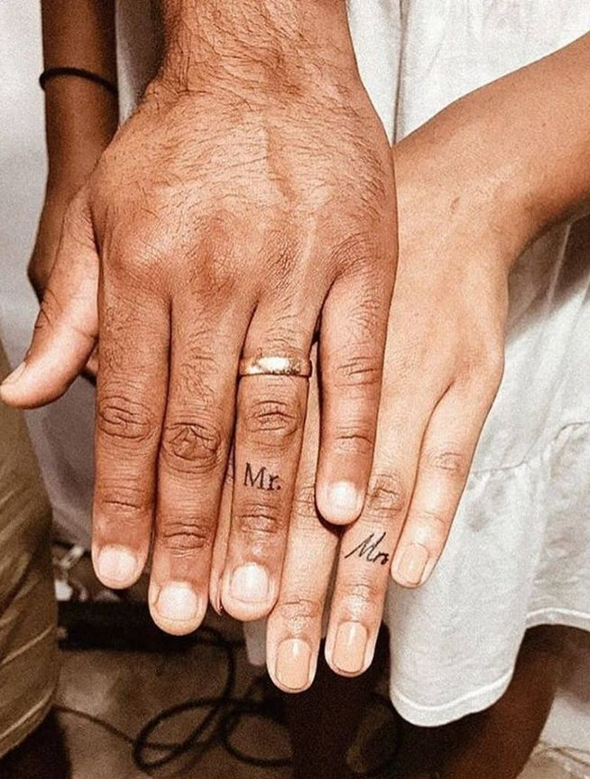 46 Lovely Matching Couple Tattoo Designs To Show Your Love –