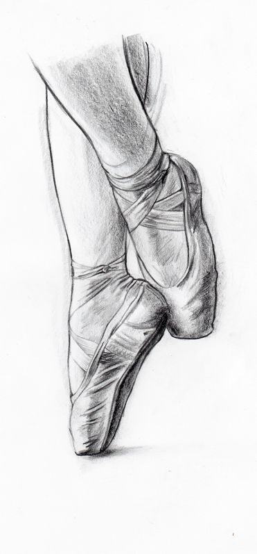 ballet shoes drawing