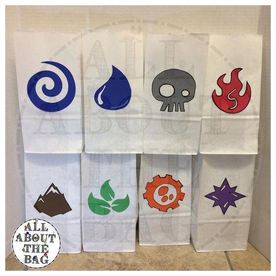 Skylander favor bags  by Allaboutthebagnola on Etsy