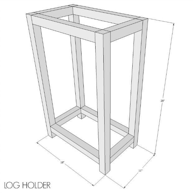 diy indoor log holder free plans