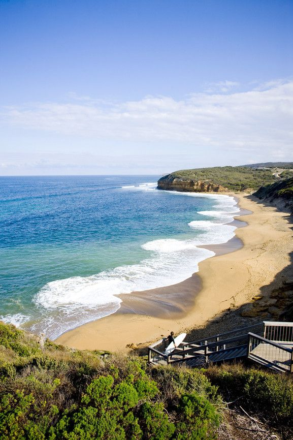 Bells Beach, one of the most famous surf Beaches in Australia