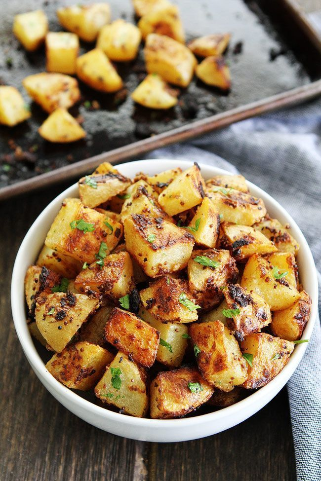 Mustard Crusted Potatoes from @Maria (Two Peas and Their Pod)