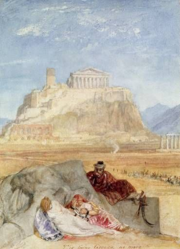 Joseph Mallord William Turner 'The Acropolis, Athens', 1822 -- Watercolour on paper - - 187 x 137 mm - © The Museum of the City of Athens, Vouros - Eutaxias