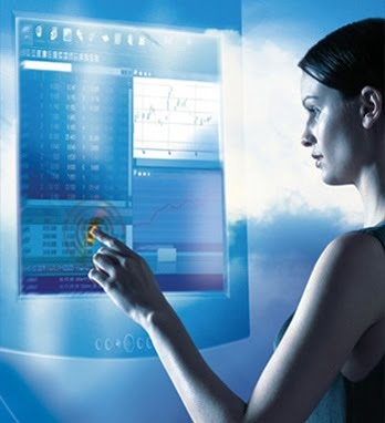 Wall touch screen