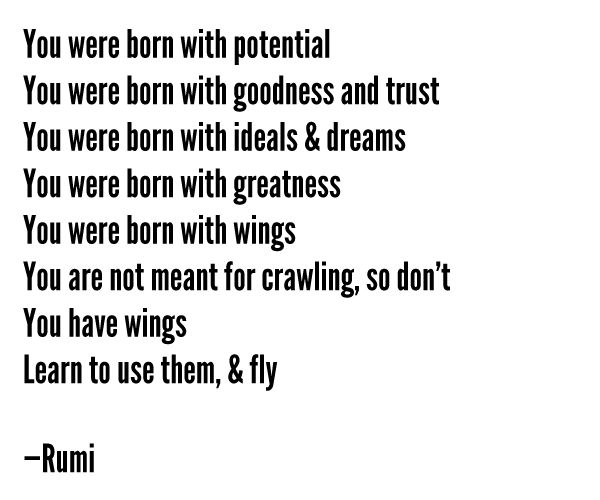 -Rumi: Lifelov Quotes, Mom Blog, Flying Quotes, Truths, Baby Girls, Things, Inspiration Quotes, Wise Words, Rumi You Were Born To Flying