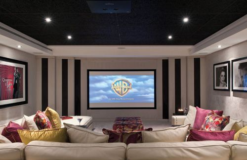 Comfy Cozy Screening Room- girl apartment, NYC apartment, Sorority House, College home