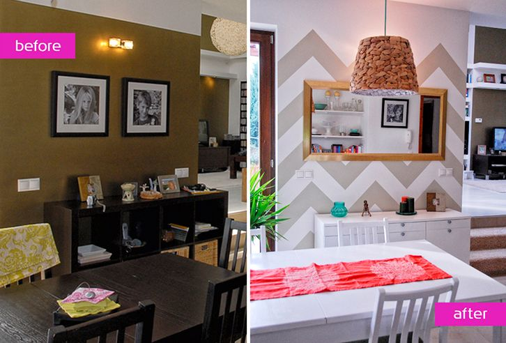 before-after dining room