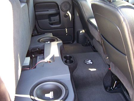 Gray gave his 2004 Dodge 1500 4x4 Quad cab an audio boost with gear from Crutchfield. #JL #srslyDIY