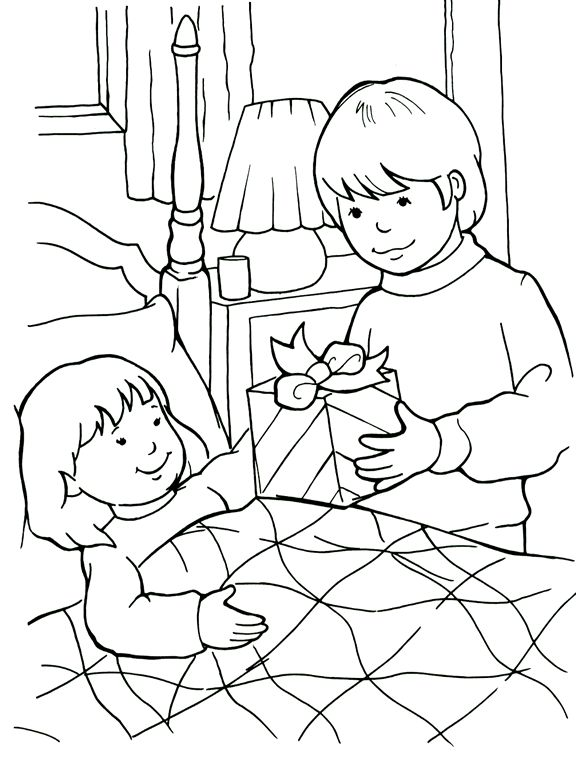 being a friend to the sick coloring page - Friendship Coloring Pages For Preschool
