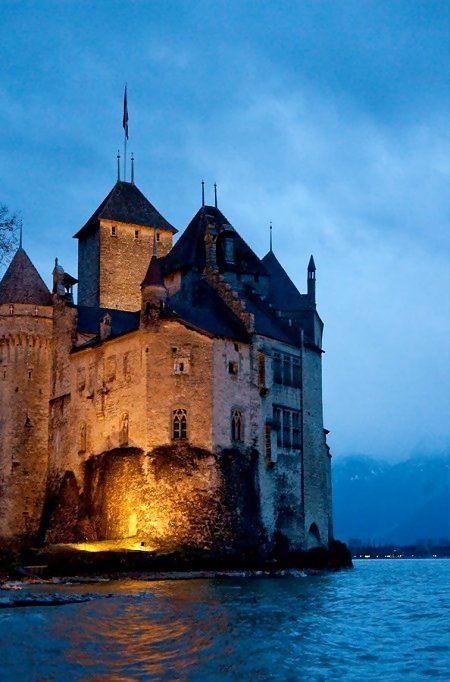 Castle of Chillon, Geneva, Switzerland .