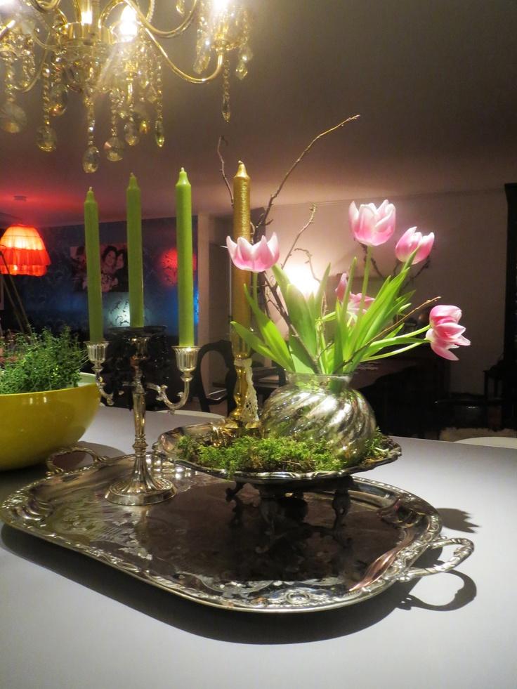 Linapinaballerina: kjøkken sølv dekor, lysekrone i gull