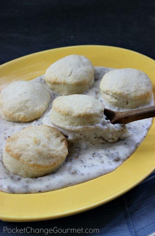 Homemade Buttermilk Biscuits & Gravy