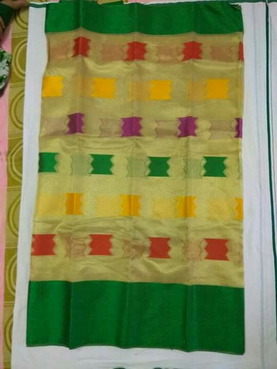 Tissue Sarees with contrast blouse.. ₹2450+ shipping #tissue #ethnic To order, pls WhatsApp on +91 94929 91857