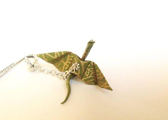 Origami bookmark origami dragon green and golden dragon