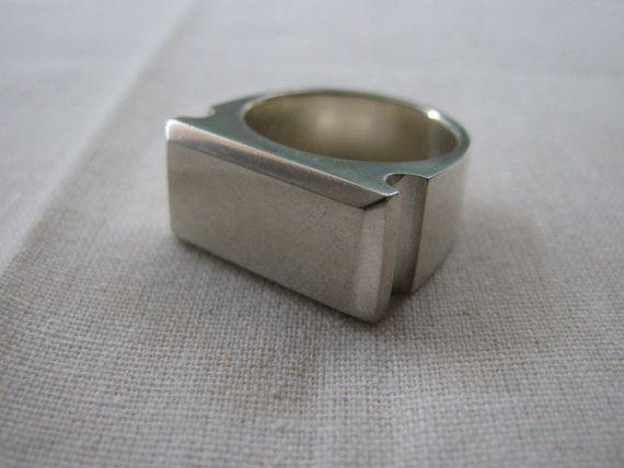 Roman Signet Ring  silver heavy ready to by juliecannonjewellery, $270.00