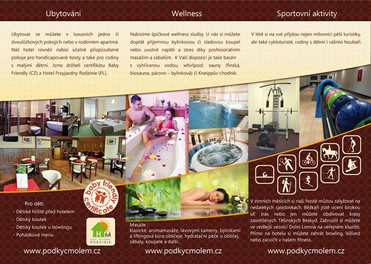 Wellness hotel Pod Kyčmolem - Horní Lomná  www.podkycmolem.cz Hotel 4*