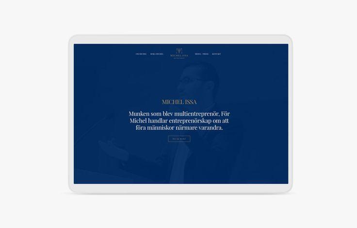 Website for Swedish entrepreneur Michel Issa — Hemsida för den svenska entreprenören Michel Issa