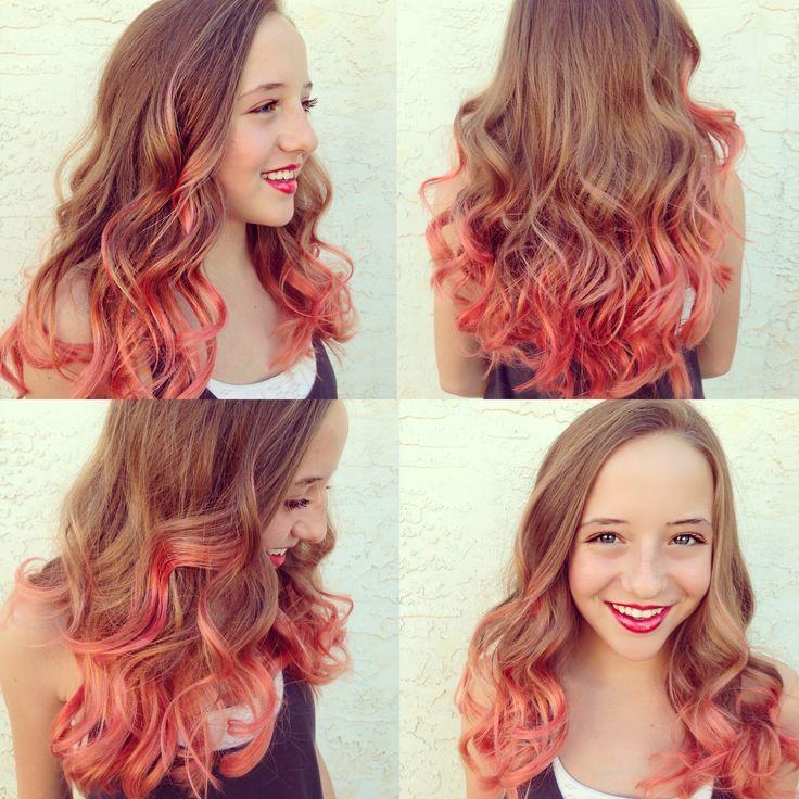 ... dye ombre pravana pastels coral hair peach hair colored hair pretty