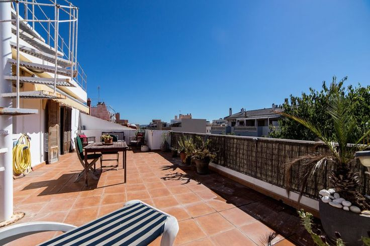 Portixol/ Es Molinar, Palma de Mallorca: Fin lägenhet med stor terrass i Molinar