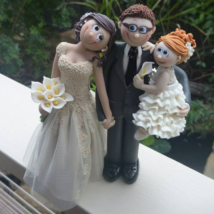 fondant wedding cake topper