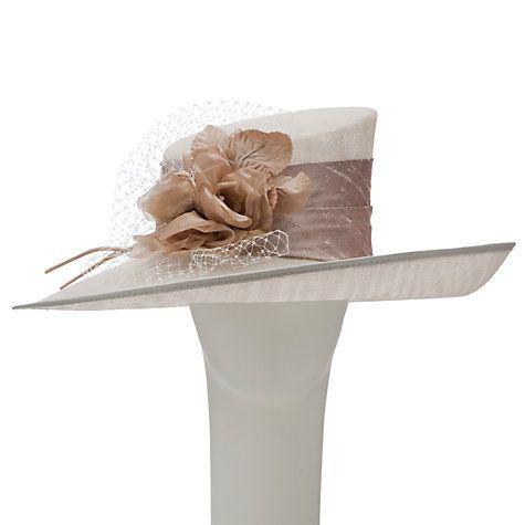 Buy Walter Wright Tori Flower & Net Detail Wide Brim Occasion Hat Online at johnlewis.com