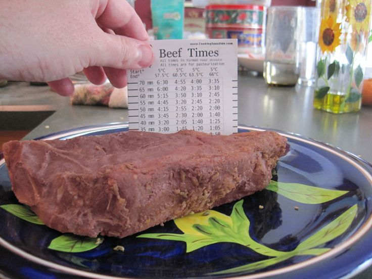 My sous vide thickness ruler will show you how long to sous vide specific cuts of food and help you be confident in your cook times. - Amazing Food Made Easy