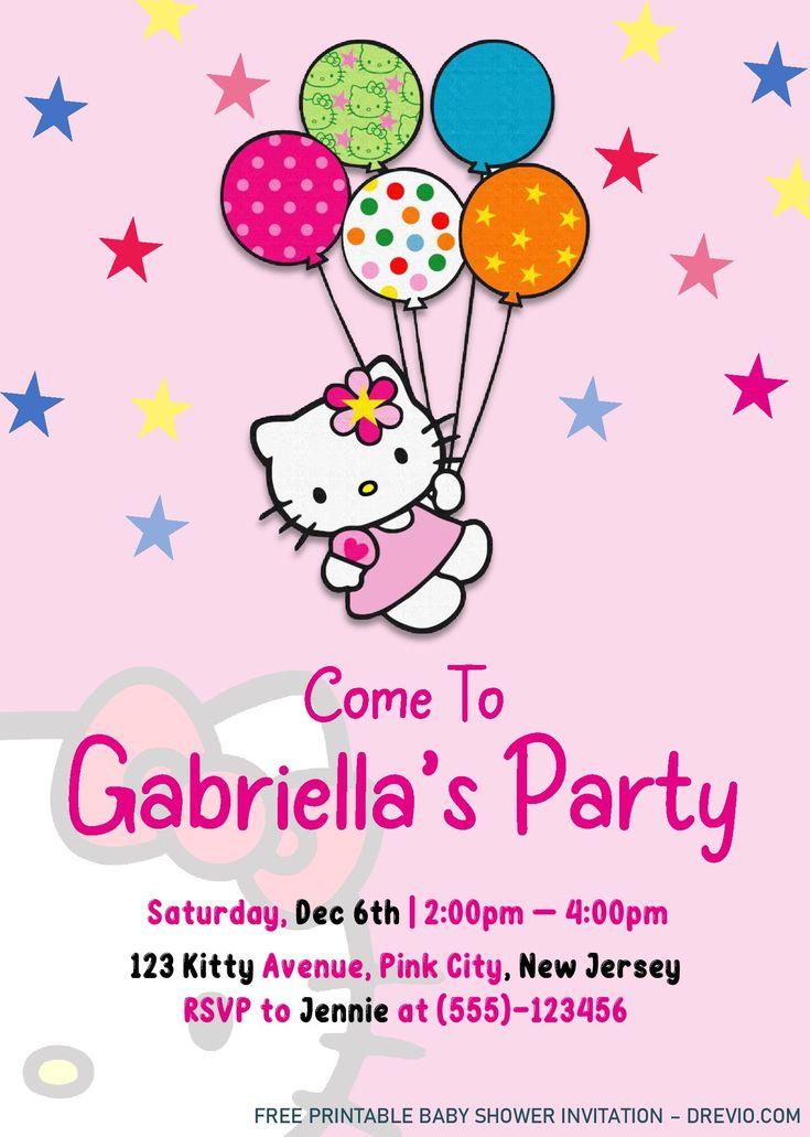 Hello Kitty Invitation Templates - Editable With Ms Word ...