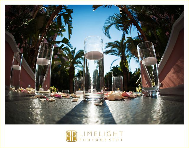 #stpetersburg #florida #doncesar #hotel #wedding #photography #stepintothelimelight #limelightphotography #ceremony #decor #details #candles #petals #sunshine #outdoor #beach