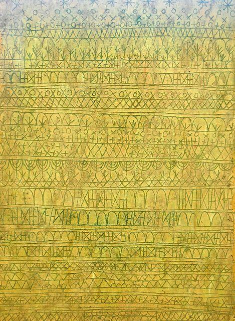 Paul Klee. Pastorale (Rhythms). 1927. MoMA, NYC Looks like the original Zentangles!