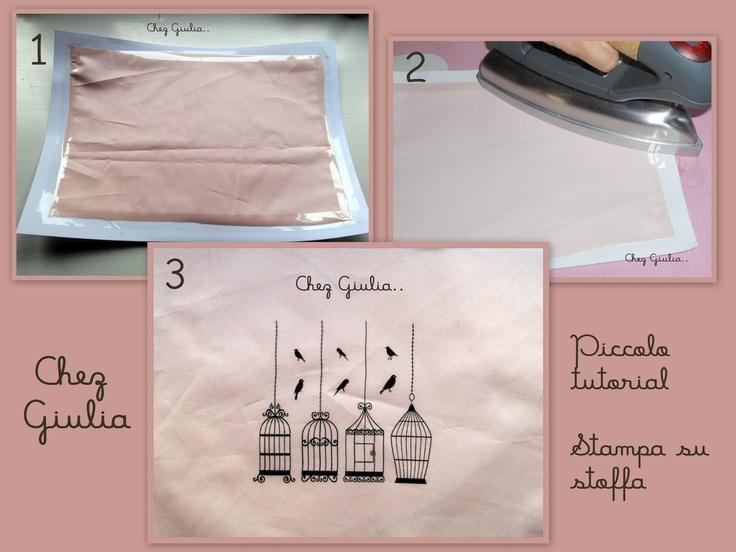 Chez Юлии ..: Мини учебник: Печать на ткани.