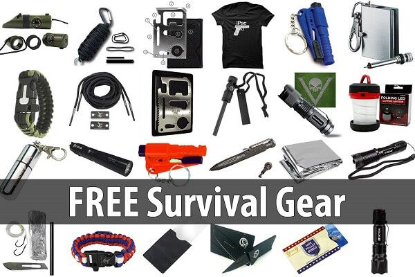 Here you'll find a list of useful, high-quality survival gear that you can get for free.  Take advantage of these offers while you can!