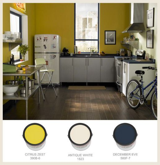 Best White Paint For Kitchen Cabinets Behr: 48 Best Images About Yellow Rooms On Pinterest