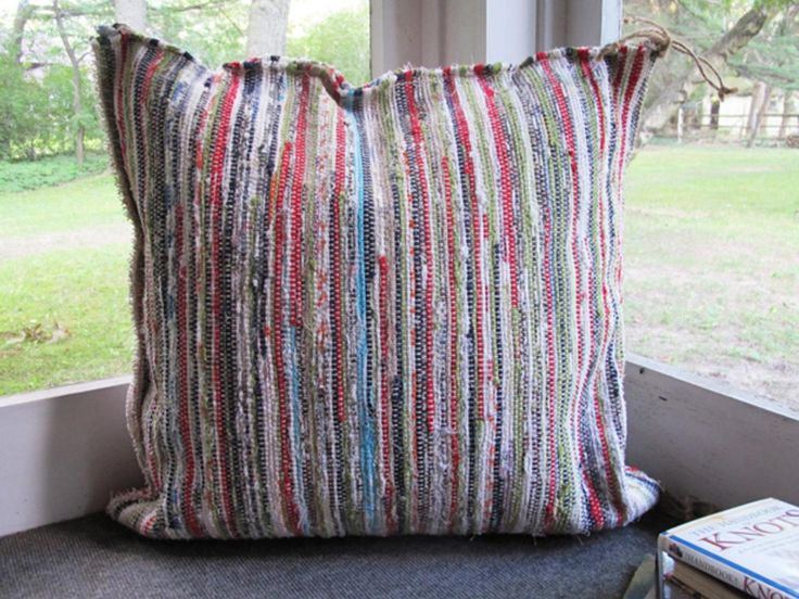 Learn how to turn inexpensive rugs into large, sturdy cushions.