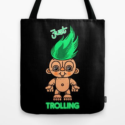 Just+Troll+Doll+Tote+Bag+by+chobopop+-+$22.00