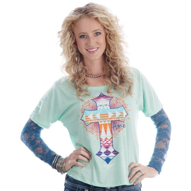 Shop Women's ATX Mafia Amen Aztec Slouchy Top