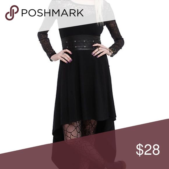 Long Sleeve Black Gothic Dress Royal Bones High Low Black Gothic Dress Royal Bones. Love this dress, but sadly have to let go. Worn a few times, but fantastic condition. Hot Topic Dresses High Low