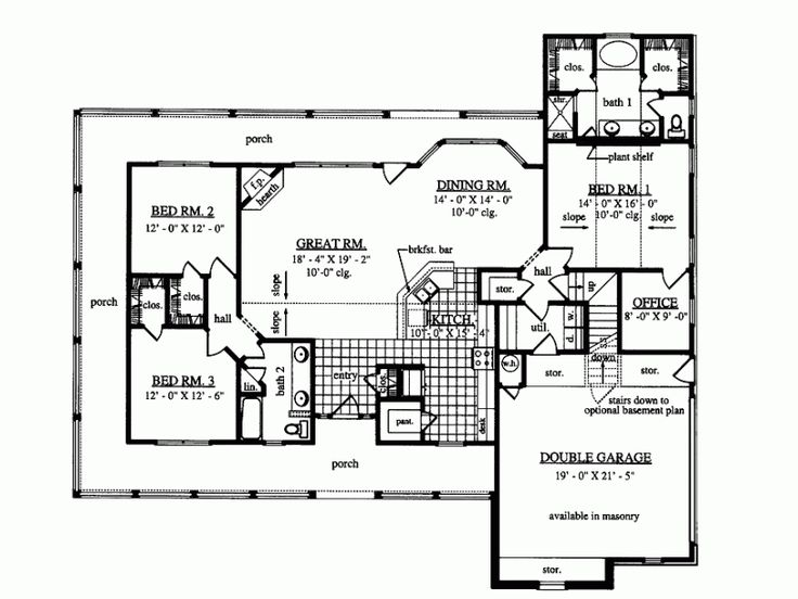 Nice open floor plan dream home pinterest house for Retirement cottage house plans
