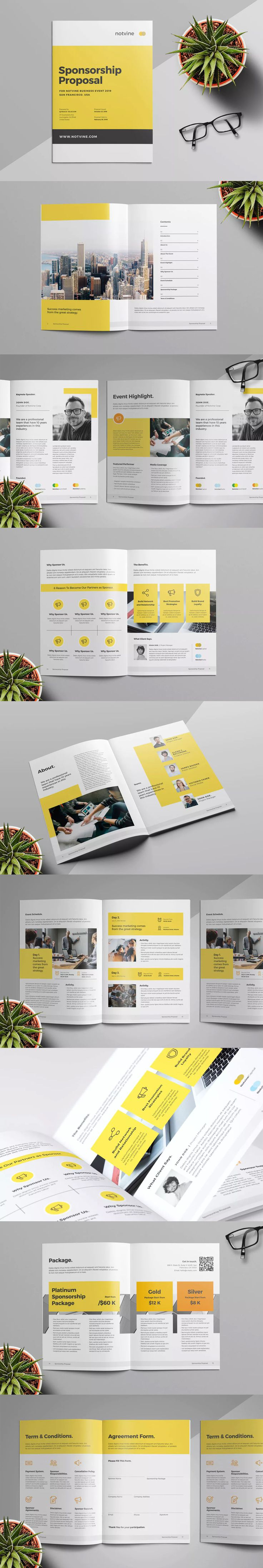 Event Proposal Template InDesign INDD A4