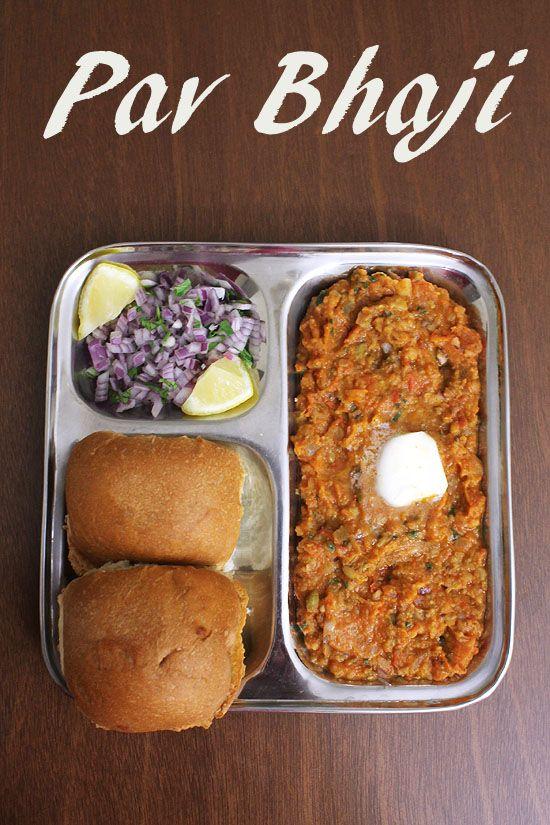pav bhaji recipe with step by step photos - The most popular Mumbai street food or fast food recipe. This mumbai pav bhaji is rich, buttery