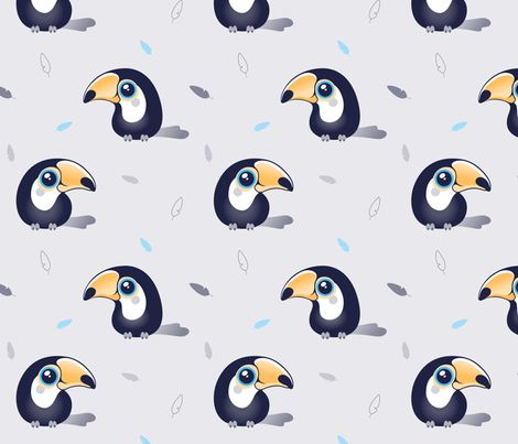 Two Toucan can fabric by nossisel on Spoonflower - custom fabric
