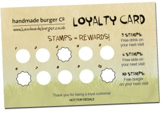 Stamp loyalty cards